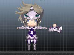 3d anime nendroid model maya