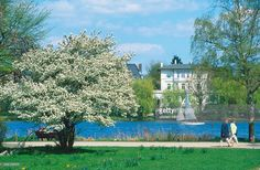 Germany Hamburg Harvestehude - Park and river Alster Pictures ...
