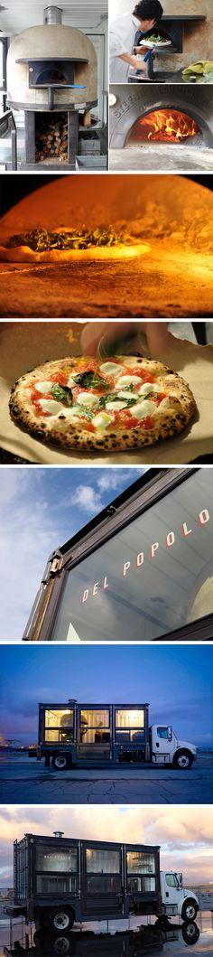 A pizzaria sobre rodas Del Popolo resolveu levar a sua pizza onde as pessoas estão e não esperar elas irem até um endereço qualquer. Um container de carga foi modificado colocando um forno de pizza que assa qualquer redonda em 1 minuto.