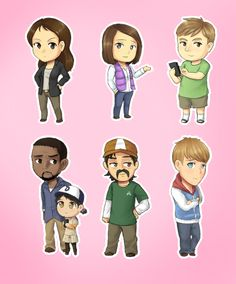 the walking dead cute characters cartoon fan art | ... apr cachediconthe walking dead the walking dead were happy r2d2 cp30