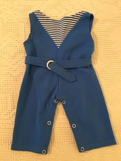 Vintage Baby Boy Romper Nylon Blue and White 1960's by BlowingMilkBubbles on Etsy
