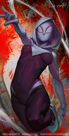 Art from the Spider-Man universe. Marvel Dc, Marvel Spider Gwen, Spider Gwen Cosplay, Spiderman Spider, Marvel Fan Art, Marvel Comic Universe, Marvel Comics Art, Marvel Girls, Comics Girls
