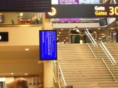 Ad monitor in Arlanda Airport