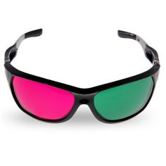 Excellent Green + Red 3 Dimensional Anaglyph 3D Glasses for Movies Home Theatre