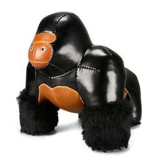 """Zuny Series Gorilla (Milo) Black Animal Bookend by Zuny. $52.15. Weight: 1.0kg. Material: Synthetic Leather, Polyester Fiber, Iron Pellets, Fur. Size: 18×16×15.5cm. Introducing the world's most beautiful BOOKENDS. A magnificent addition to your child's room. Each bookend is lovingly handcrafted. Available in the """" Limited Edition """". It can be placed anywhere you like-on the desk, beside the bed, in the living room, office...etc."""
