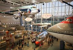 """The Smithsonian Air and Space museum, Washington DC.  If you stay all day, your daughter might say """"I'm glad my brother is having good time but if I see one more plane I'm going to scream."""""""