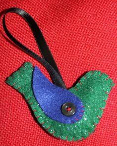 Felt bird #felt crafts