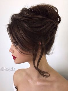 28 Ideas for wedding hairstyles elegant updo pearl flower Wedding Hairstyles For Long Hair, Wedding Hair And Makeup, Bride Hairstyles, Hair Wedding, Wedding Nails, Hairstyle Ideas, Hair Ideas, Elegant Hairstyles, Hairstyles 2018
