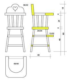 Printable Miniature Furniture; Highchair