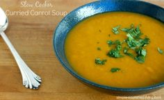 Slow Cooker Curried Carrot Soup | Weight Watchers Friendly Recipes #HealthySlowCooker #WeightWatchers