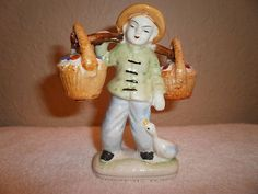 Viintage Occupied Japan Salt Pepper Shaker Japaniess Figurine | eBay