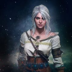 The Witcher 3 Wild Hunt Ciri FanArt Wallpapers) – HD Desktop Wallpapers The Witcher Wild Hunt, The Witcher 3, Geralt And Ciri, Ciri Witcher, Witcher Art, Fantasy Characters, Female Characters, Witcher Wallpaper, 3d Max Vray