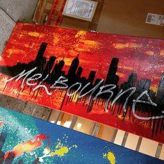 Melbourne Cityscape from last year  #art #artist #artwork #australia #melbourne #hosierlane #instalike #interiors #painting #limitededition  #interiordesign #architecture  #modernart #design #artprint #urbanart #abstractart #artforsale #bespoke #melbourneartist #exhibition #gallery #studio #studioart #streetart #graffiti #stencilart #banksy #ironlak #molotow