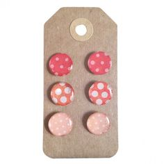 Epoxy Stud Earring Set in Whimsy- Pink Colorwave