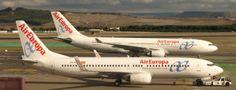 Dos de los 3 modelos que usas Air Europa en su flota.