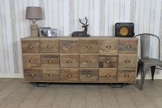 This stunning large and substantial chest of drawers or storage cabinet would be ideal for any large bedroom or living room. This item has been...