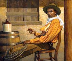 """ Texas Chillin' "" by Thomas Blackshear.   Thomas did an incredible job. Now that's my kind of cowboy..."