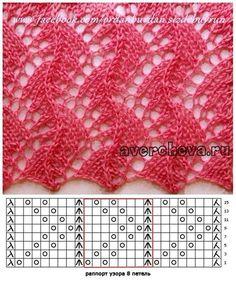 """pl - Scoprire, raccogliere, ispirando """"Fans of lace knitting pattern graph"""", """"Jana has a wonderful collection of knitting s Lace Knitting Stitches, Lace Knitting Patterns, Knitting Charts, Lace Patterns, Crochet Blanket Patterns, Crochet Shawl, Stitch Patterns, Mittens Pattern, Knitting Machine"""