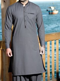 Kurta designs - Latest Shalwar Kameez Designs For Men Style Pk Salwar Kameez Mens, Shalwar Kameez Pakistani, Kurta Men, Pakistani Suits, Gents Kurta Design, Boys Kurta Design, Designer Suits For Men, Designer Clothes For Men, Designer Dresses