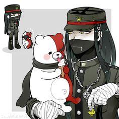 Danganronpa Korekiyo and Monotaro. Originally found here: https://www.pixiv.net/member_illust.php?mode=manga&illust_id=62885746