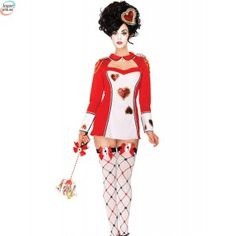 Red Womens Queen Of Hearts Guard Card Suit Adult Halloween Costume Fancy Dress Adult Costumes, Costumes For Women, Halloween Kostüm, Halloween Costumes, Party Costumes, Casino Costumes, Alice In Wonderland Costume, Keyhole Dress, Queen Costume