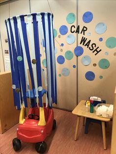 Car Wash dramatic play idea for preschool