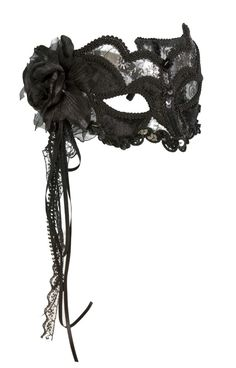 black lace mask for going to a ball....bucket list