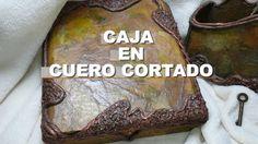 DIY CAJA IMITACION  DE CUERO CORTADO(en cartapesta)