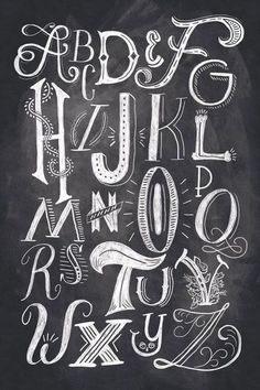 I like the hand-drawn alphabet. Each character has it's unique appearance and the white and black contrast adds to its shadow.