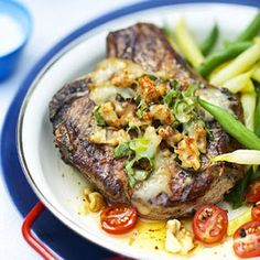 Beer-Marinated Pork Chops with Cheese Topping - Recipe.com