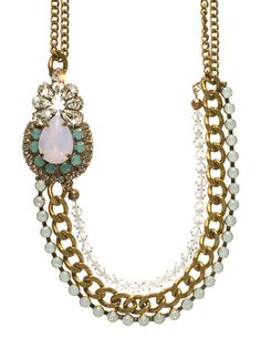 Asymmetrical Crystal and Chain Collar Necklace in Rose Water by Sorrelli - $175.00 (http://www.sorrelli.com/products/NCT1AGROW)