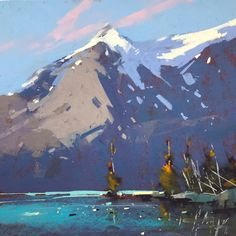 Canadian Rockies, Snow Lake, Mount Everest, Pastel, Mountains, Pine, Gallery, Trees, Nature