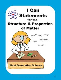 FREE sample - Science I Can Statements from my Structure and Properties of Matter Unit, aligned with the Next Generation Science Standards