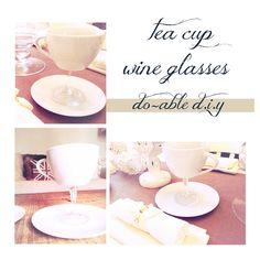 ..Twigg studios: tea cup wine glasses diy