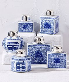 Canton Collection Set of 6 Tea Jars -- Click on the affiliate link Amazon.com on image for additional details.