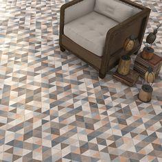 Hexágono Fingal Multicolor 23x26,6cm. | Pavimento Porcelánico | VIVES Azulejos y Gres S.A. #porcelain #tile #hexagon