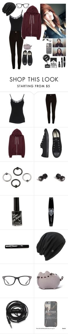 """""""Mike Fuentes"""" by emokittyyy ❤ liked on Polyvore featuring P.J. Salvage, River Island, American Apparel, Converse, Topman, Marmot, Ray-Ban and Urbanears"""