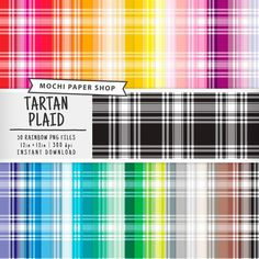 Sketchy Multi Color Plaid Collection Debi Payne Designs