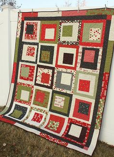 Countdown to Christmas Square Dance quilt - pattern by Amy Smart in Fabulously Fast Quilts