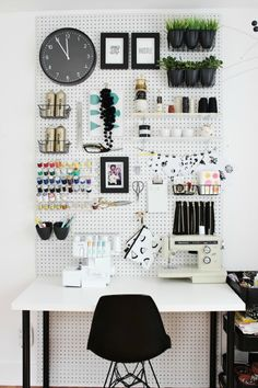 Great ideas to organize with pegboard!  // cleanandscentsible.com
