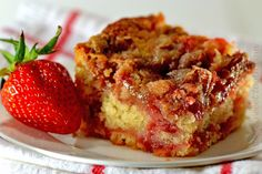 California Strawberry Day: Strawberry Pecan Streusel Cake