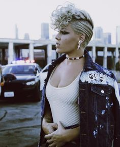 Screen shot from PINK's new video 'What About Us'