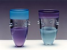 "Very cool glass tumblers - ""desert"" colors are a wonderful touch.  ""Common Ray"" by Sabine Lintzen, Netherlands"