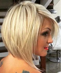 Cute Blonde Line Bob Hair
