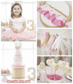 Pink and Gold themed birthday party via Kara's Party Ideas KarasPartyIdeas.com
