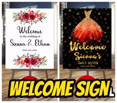 Welcome sign #welcomesign #printablesign #weddingsign #anniversarysign #birthdaysign