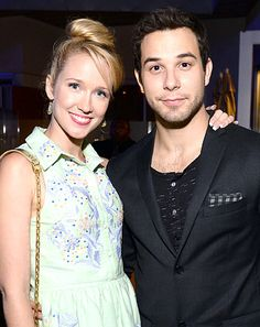 Pitch Perfect costars Anna Camp and Skylar Astin are dating, sources tell Us Weekly exclusively; Celebrity Babies, Celebrity Couples, Celebrity News, Hottest Male Celebrities, Celebs, Beautiful Person, Beautiful People, Pitch Perfect Movie, Anna Camp