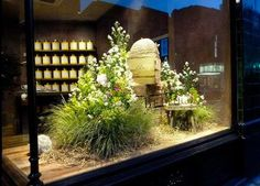 Bellocq Tea Atelier / wonderful window display at this London tea shop.