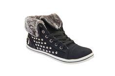 Γυναικεία Sneakers Μαύρα με τρουκς