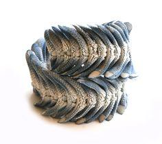 Silicone & Silk Bracelet by Tzuri Gueta. Gallery Lulo.